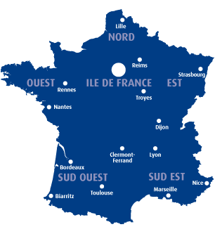Carte de France groupe CPE