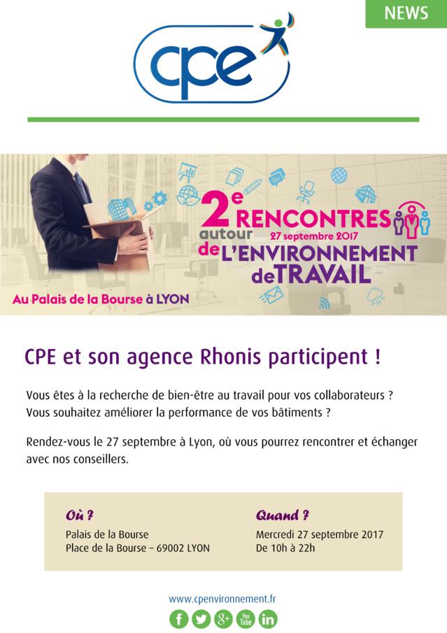 CPE participe aux Rencontres autour de l'Environnement de Travail le 27 septembre à Lyon !