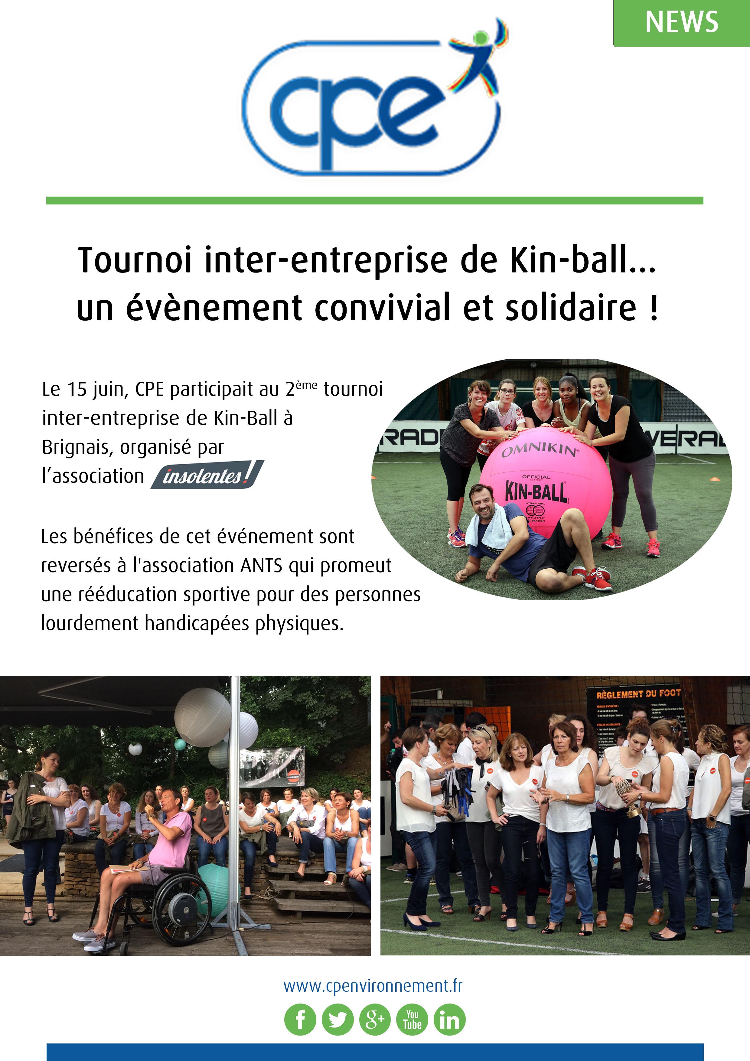 CPE participe au tournoi de kin-ball. Evénement convivial et solidaire !